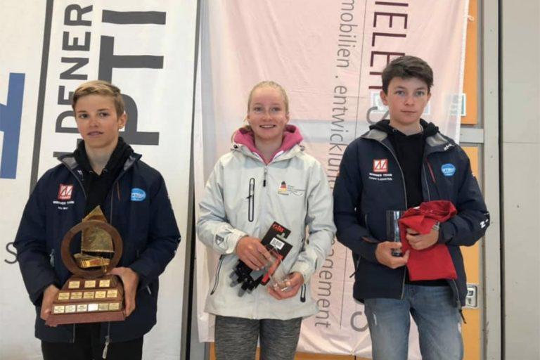 Jule Ernst belegt beim Goldenen Opti vor Kiel Platz 2 - Gratulation!