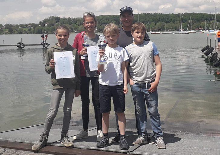 SOS Regatta Opti B  Moritz Mehlmann auf Platz 2