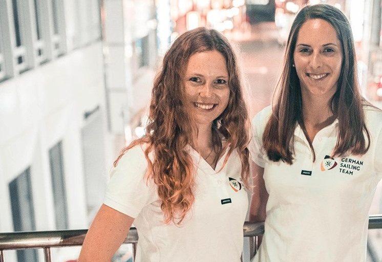 Nadi Böhm und Ann-Christin Goliaß starten im 470er beim olympischen Testevent