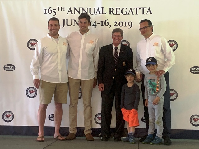 Christian Teichmann und Hugh Brayshaw werden 2. bei der 165th Annual Regatta des NYYC in Newport