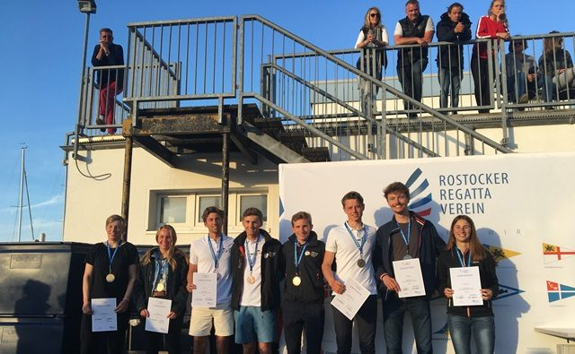Theresa Löffler und Christopher Hoerr Platz 3 bei der IDM 470er Junioren