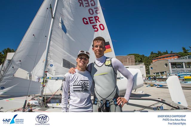 470er Junioren WM - Theresa Löffler mit Mike Pryzbyl auf Platz 6 der Mixed Wertung