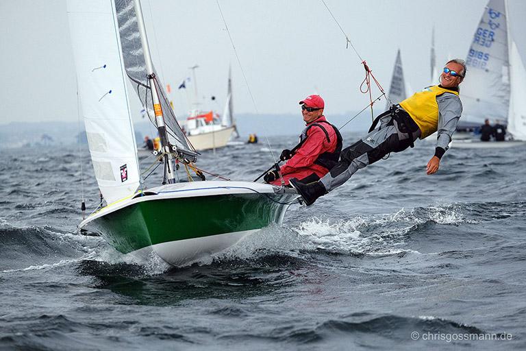 Drei Boote des DTYC bei der 505er EM vor Sonderborg