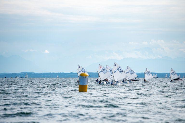 Bayerische Jugendwoche im BYC - Timmi Krause im Opti mit Laufsieg auf Platz 4