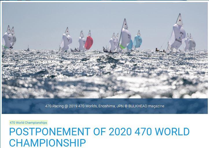Update 470er  - WM verschoben und Trofeo Princea Sofia Regatta abgesagt