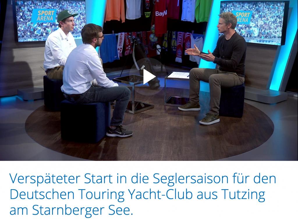 Teammanagement des DTYC Bundesligateams bei München.tv  zu Gast