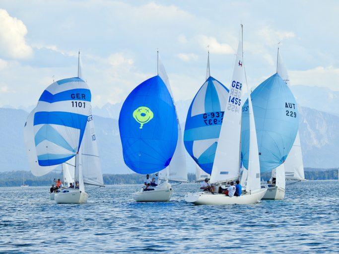 30 H-Boote beim Robert Huber Pokal am Start