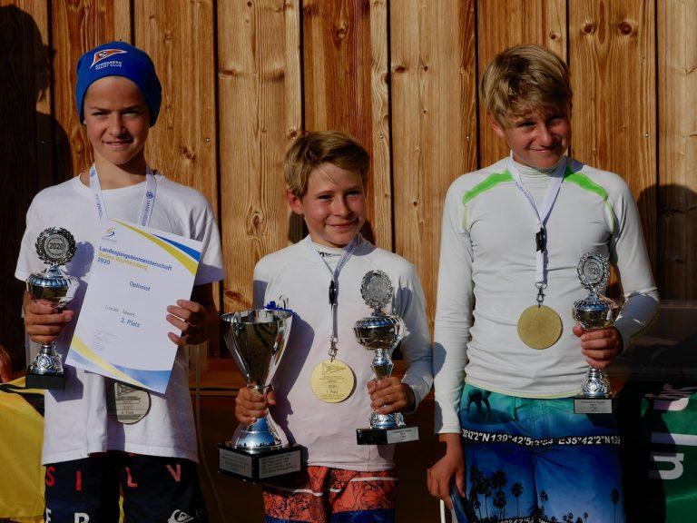 Lukas Wagner wird Baden Württembergischer Landesjüngstenmeister im Opti - Timmi Krause Platz 3 beim Stanjek Cup in Berlin - DTYC Team gewinnt Teamwertung beim Optiteller in Ammerland