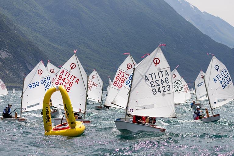 Opti - 39. Lake Garda Meeting sechs DTYC Talents am Start