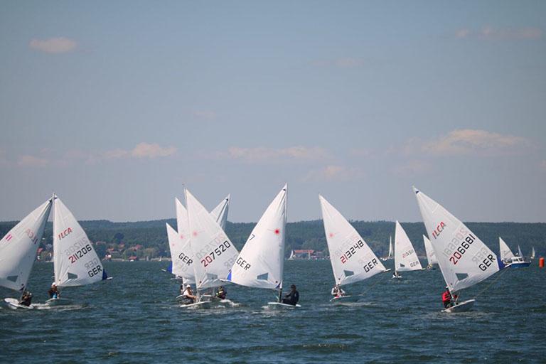 ILCA/Laser - Drei DTYC Einhandsegler im Herrschinger Segel Club