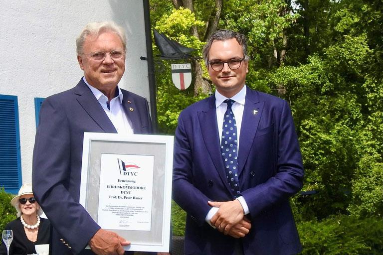 Prof. Dr. Peter Bauer zum DTYC Ehrenkommodore ernannt